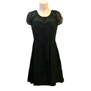 Jack lace neck black mini summer dress size small